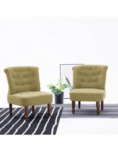 Prancūziško stiliaus kėdės, 2 vnt., žalios, audinys | Foteliai, reglaineriai ir išlankstomi krėslai | duodu.lt