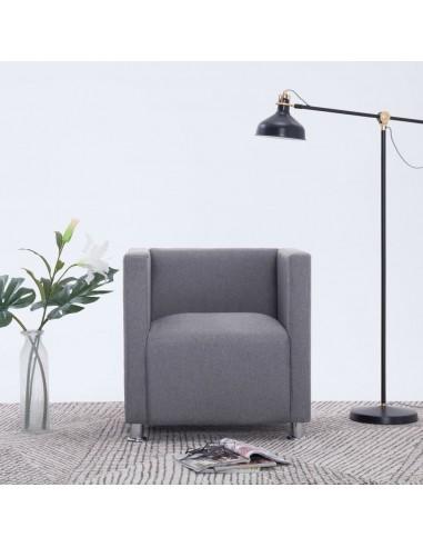 Krėslas, šviesiai pilkos spalvos, poliesteris  | Foteliai, reglaineriai ir išlankstomi krėslai | duodu.lt