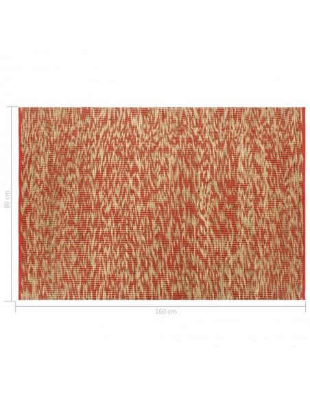 Kilimas, tikros odos, skiaut., 120x170cm, juost., rudas/baltas  | Kilimėliai | duodu.lt