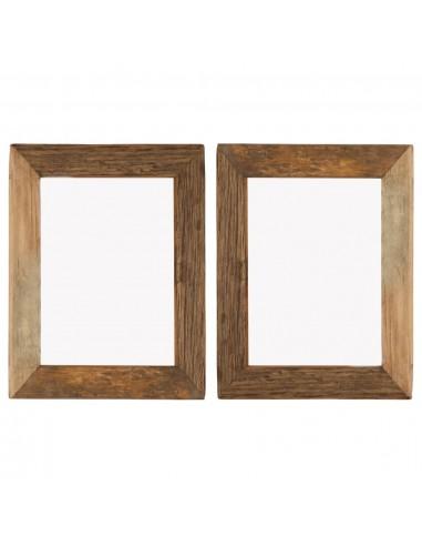 Nuotraukų rėmeliai, 2vnt., 34x40cm, medienos masyvas ir stiklas | Nuotraukų rėmeliai | duodu.lt