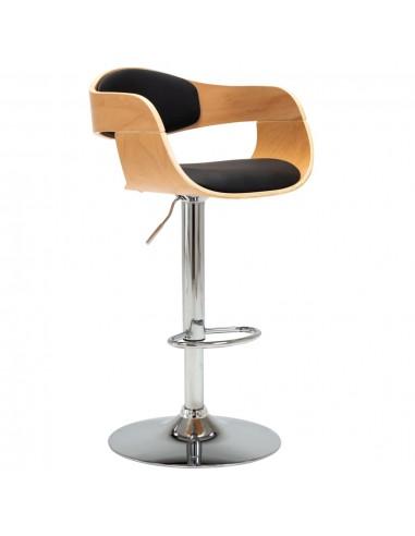 Baro kėdė, juoda sp., išlenkta mediena ir dirbt. oda    Stalai ir Baro Kėdės   duodu.lt