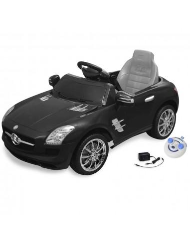 El. automobilis MERCEDES BENZ SLS AMG, juodas, 6 V, su nuot. pultu | Elektrinės Transporto Priemonės | duodu.lt