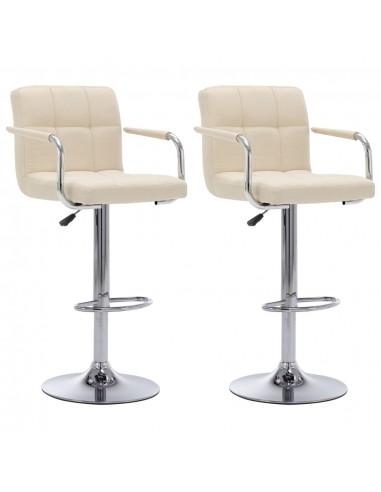 Baro kėdės, 2 vnt., kreminės spalvos, audinys | Stalai ir Baro Kėdės | duodu.lt