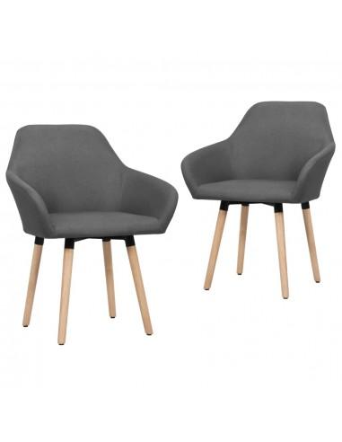 Valgomojo kėdės, 2 vnt., tamsiai pilkos spalvos, audinys | Virtuvės ir Valgomojo Kėdės | duodu.lt