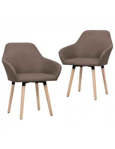 Valgomojo kėdės, 2 vnt., rudos spalvos, audinys  | Virtuvės ir Valgomojo Kėdės | duodu.lt