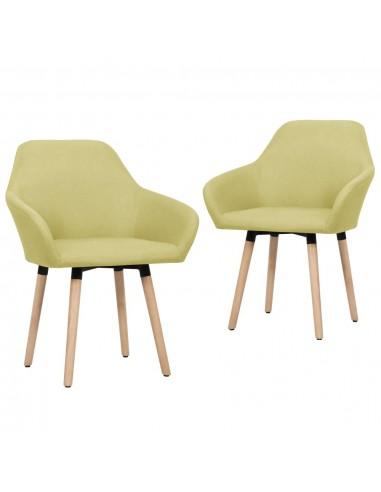 Valgomojo kėdės, 2 vnt., žalios spalvos, audinys   Virtuvės ir Valgomojo Kėdės   duodu.lt