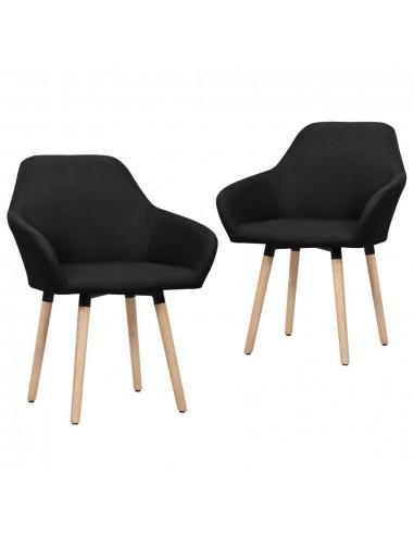 Valgomojo kėdės, 2 vnt., juodos spalvos, audinys   Virtuvės ir Valgomojo Kėdės   duodu.lt