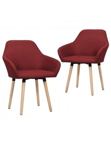 Valgomojo kėdės, 2 vnt., raudonojo vyno spalvos, audinys | Virtuvės ir Valgomojo Kėdės | duodu.lt