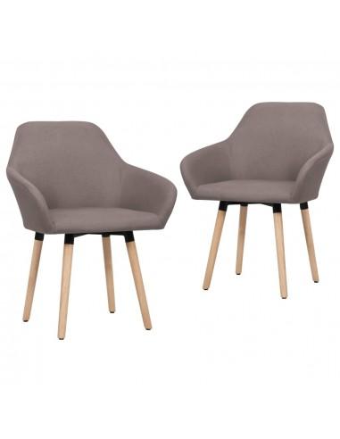 Valgomojo kėdės, 2 vnt., taupe spalvos, audinys    Virtuvės ir Valgomojo Kėdės   duodu.lt