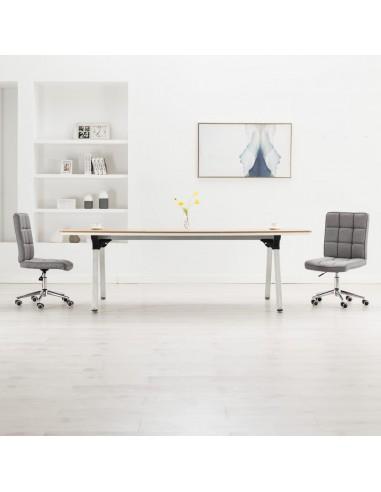 Valgomojo kėdės, 2vnt., šviesiai pilkos spalvos, audinys  | Virtuvės ir Valgomojo Kėdės | duodu.lt