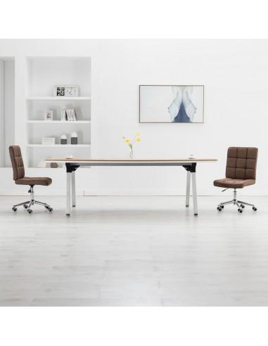 Valgomojo kėdės, 2vnt., rudos spalvos, audinys | Virtuvės ir Valgomojo Kėdės | duodu.lt