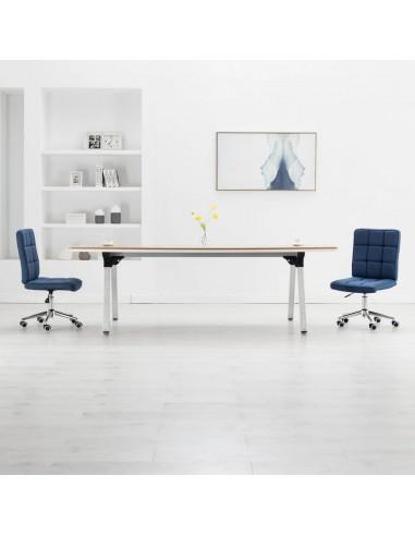 Valgomojo kėdės, 2vnt., mėlynos spalvos, audinys    Virtuvės ir Valgomojo Kėdės   duodu.lt