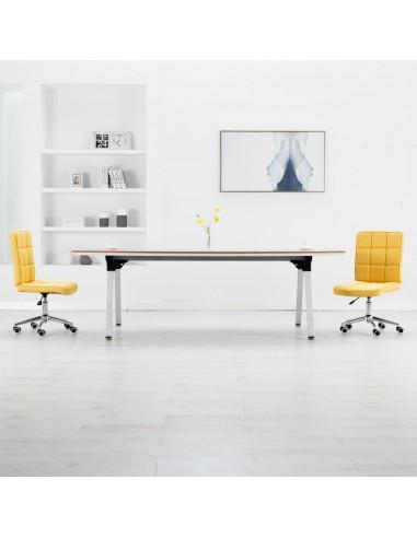 Valgomojo kėdės, 2vnt., geltonos spalvos, audinys   Virtuvės ir Valgomojo Kėdės   duodu.lt