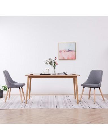 Valgomojo kėdės, 2 vnt., šviesiai pilkos, audinys    Virtuvės ir Valgomojo Kėdės   duodu.lt