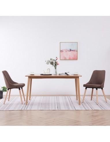 Valgomojo kėdės, 2 vnt., rudos spalvos, audinys    Virtuvės ir Valgomojo Kėdės   duodu.lt