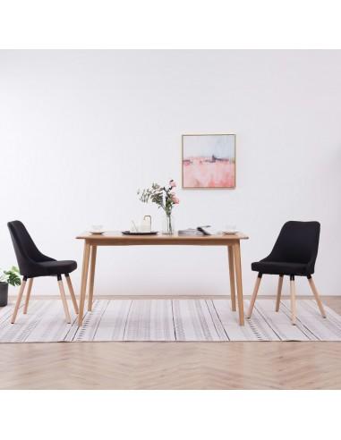 Valgomojo kėdės, 2 vnt., juodos, audinys   Virtuvės ir Valgomojo Kėdės   duodu.lt