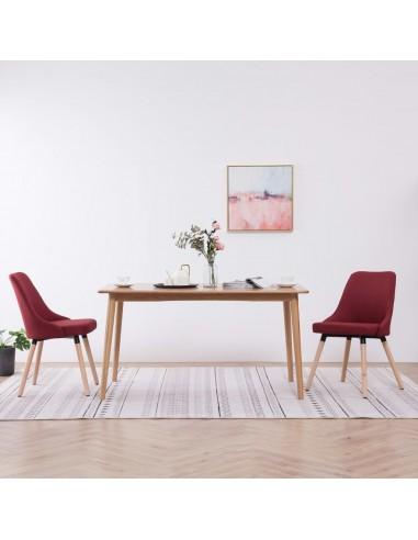Valgomojo kėdės, 2 vnt., raudonojo vyno spalvos, audinys   Virtuvės ir Valgomojo Kėdės   duodu.lt