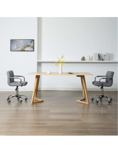 Valgomojo kėdės, 2 vnt., šviesiai pilkos sp., aud., pasukamos    Virtuvės ir Valgomojo Kėdės   duodu.lt