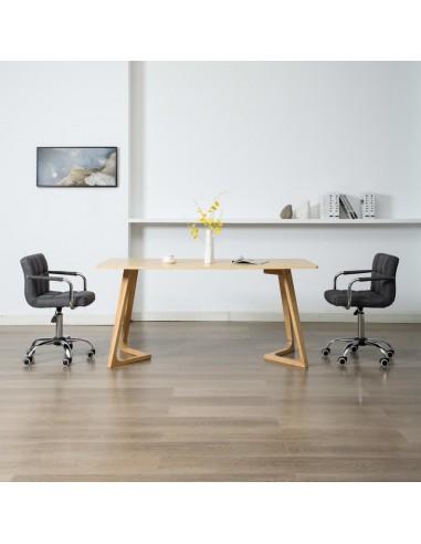 Valgomojo kėdės, 2 vnt., tamsiai pilkos sp., audinys, pasukamos   Virtuvės ir Valgomojo Kėdės   duodu.lt