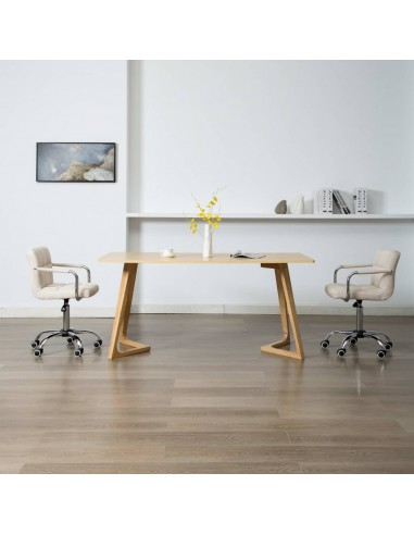 Valgomojo kėdės, 2 vnt., kreminės spalvos, audinys, pasukamos   Virtuvės ir Valgomojo Kėdės   duodu.lt