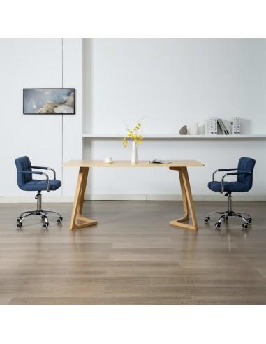 Valgomojo kėdės, 2 vnt., mėlynos spalvos, audinys, pasukamos | Virtuvės ir Valgomojo Kėdės | duodu.lt
