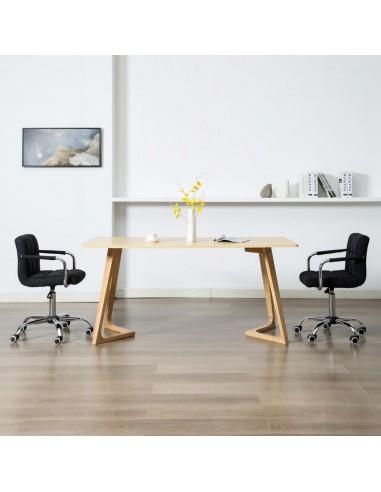 Valgomojo kėdės, 2 vnt., juodos spalvos, audinys, pasukamos   Virtuvės ir Valgomojo Kėdės   duodu.lt