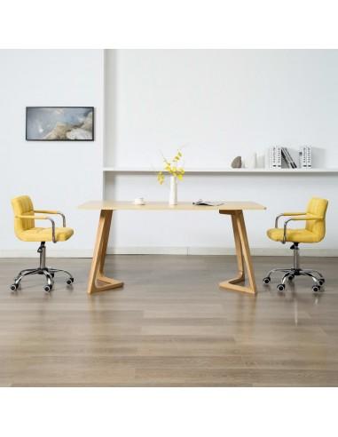 Valgomojo kėdės, 2 vnt., geltonos spalvos, audinys, pasukamos | Virtuvės ir Valgomojo Kėdės | duodu.lt