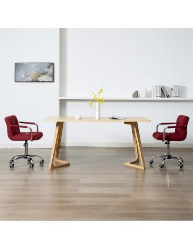 Valgomojo kėdės, 2 vnt., raudonojo vyno sp., audinys, pasukamos   Virtuvės ir Valgomojo Kėdės   duodu.lt