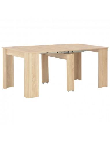 Išskleidž. valgomojo stalas, sonoma ažuolo sp., 175x90x75cm | Virtuvės ir Valgomojo Stalai | duodu.lt