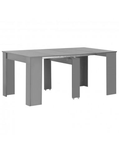 Išskleidž. valgomojo stalas, pilkos sp., 175x90x75cm, l. blizg.   Virtuvės ir Valgomojo Stalai   duodu.lt