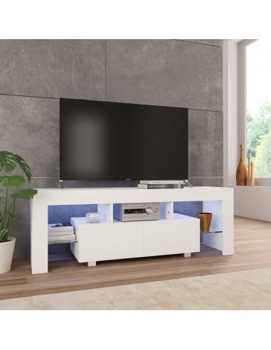 TV spintelė su LED, baltos sp., 130x35x45 cm, labai blizgi   Pramogų Centrai ir TV Stovai   duodu.lt
