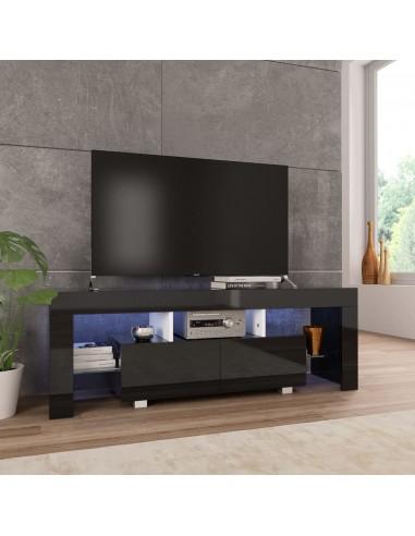 TV spintelė su LED, juodos sp., 130x35x45 cm, labai blizgi   Pramogų Centrai ir TV Stovai   duodu.lt