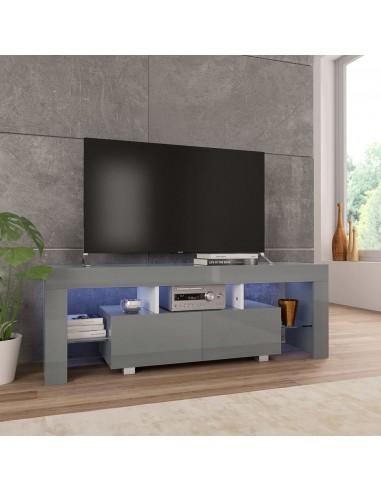 TV spintelė su LED, pilkos sp., 130x35x45 cm, labai blizgi   Pramogų Centrai ir TV Stovai   duodu.lt