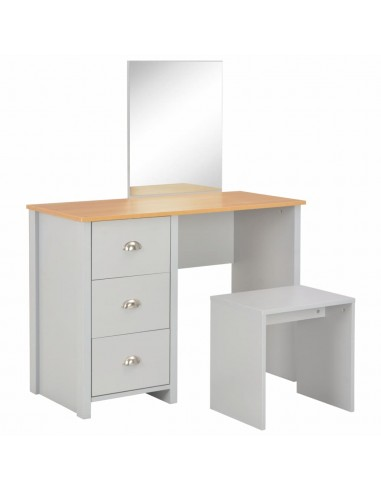 Kosmetinis stal. su veidrodž. ir tab., pilk. sp., 104x45x131cm   Miegamojo Spintelės   duodu.lt