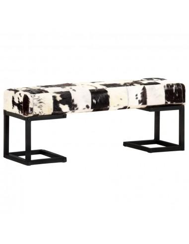 Suoliukas, juodos spalvos, 110cm, tikra ožkos oda, skiautinis | Sandėlio ir Prieangio Suolai | duodu.lt