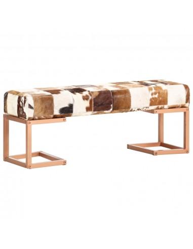 Suoliukas, rudos spalvos, 110cm, tikra ožkos oda, skiautinis   Sandėlio ir Prieangio Suolai   duodu.lt