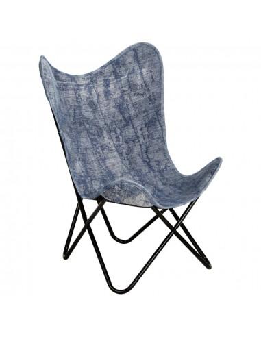 Išskleidžiama kėdė, indigo mėlynos spalvos, drobė | Foteliai, reglaineriai ir išlankstomi krėslai | duodu.lt