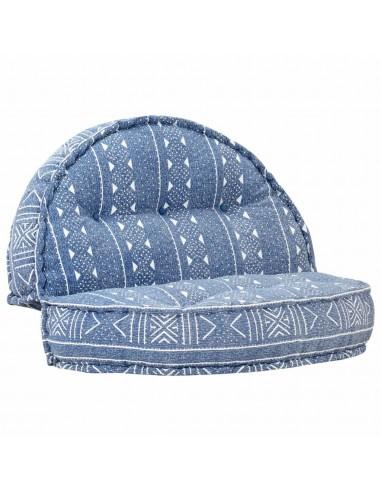 Pufas, indigo spalvos, 100x20cm, audinys | Kėdžių ir Sofos Pagalvėlės | duodu.lt