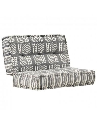 Pufas, pilkos spalvos, 100x100x20cm, audinys, dryžuotas | Kėdžių ir Sofos Pagalvėlės | duodu.lt