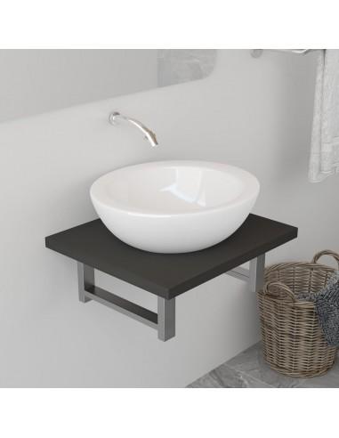 Vonios kambario baldas, pilkas, 40x40x16,3cm  | Vonios baldų komplektai | duodu.lt