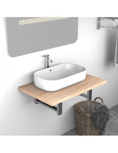 Vonios kambario baldas, ąžuolas, 60x40x16,3cm  | Vonios baldų komplektai | duodu.lt