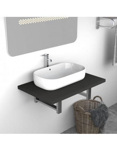 Vonios kambario baldas, pilkas, 60x40x16,3cm  | Vonios baldų komplektai | duodu.lt