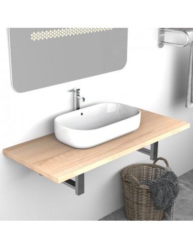 Vonios kambario baldas, ąžuolas, 90x40x16,3cm  | Vonios baldų komplektai | duodu.lt