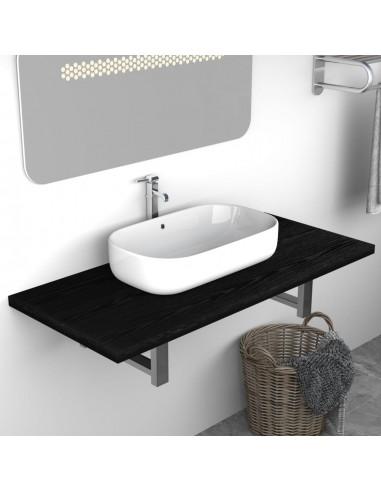 Vonios kambario baldas, juodas, 90x40x16,3cm    Vonios baldų komplektai   duodu.lt