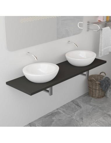Vonios kambario baldas, pilkas, 160x40x16,3cm    Vonios baldų komplektai   duodu.lt