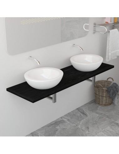 Vonios kambario baldas, juodas, 160x40x16,3cm    Vonios baldų komplektai   duodu.lt