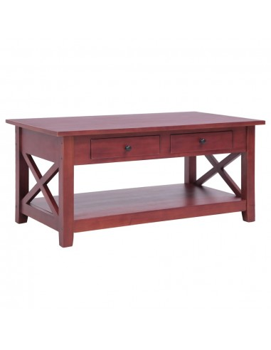 Kavos staliukas, rudos sp., 100x55x46cm, raudonm. med. masyvas | Kavos Staliukai | duodu.lt