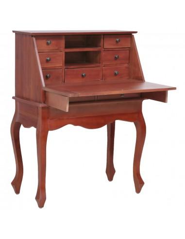 Rašomasis stalas, rudos sp., 78x42x103cm, raudonm. med. mas. | Rašomieji Stalai | duodu.lt