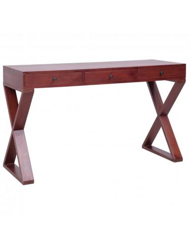 Kompiuterio stalas, rudos sp., 132x47x77cm, raudonm. med. mas. | Rašomieji Stalai | duodu.lt