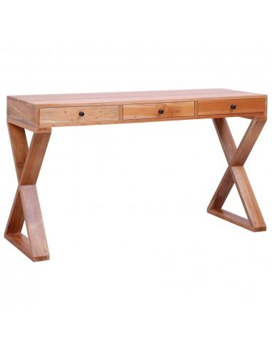 Kompiuterio stalas, natūr. sp., 132x47x77cm, raudonm. med. mas.   Rašomieji Stalai   duodu.lt